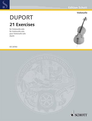 21 Exercices Jean Louis Duport Partition Violoncelle - laflutedepan