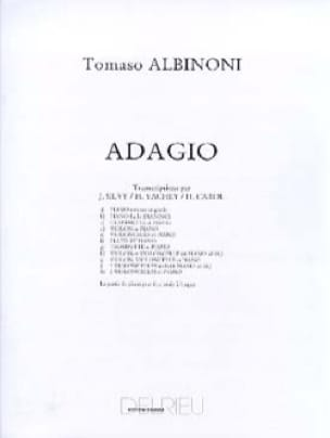 Adagio -2 Violoncelles piano - ALBINONI - laflutedepan.com