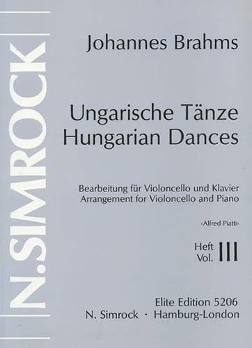 Danses hongroises Volume 3 - BRAHMS - Partition - laflutedepan.com