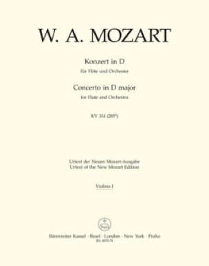 Flötenkonzert D-Dur KV 314 - Matériel complet sans soliste - laflutedepan.com