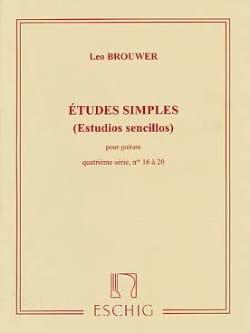 Etudes Simples - 4ème Série BROUWER Partition Guitare - laflutedepan