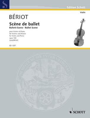 Scène de Ballet Opus 100 BÉRIOT Partition Violon - laflutedepan