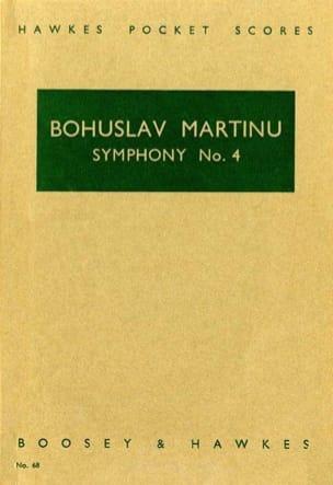 Symphonie n° 4 - Score MARTINU Partition Grand format - laflutedepan