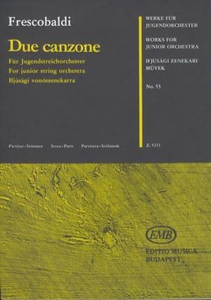 2 Canzone - Junior String Orch. FRESCOBALDI Partition laflutedepan