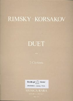 Duet - 2 Clarinets - RIMSKY-KORSAKOV - Partition - laflutedepan.com