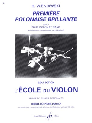 WIENIAWSKI - First brilliant Polish op. 4 - Partition - di-arezzo.co.uk