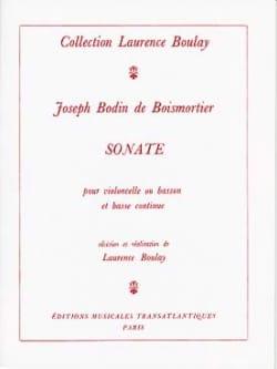 Sonate - Cello ou basson et Bc BOISMORTIER Partition laflutedepan