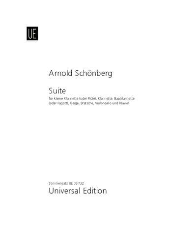 Suite op. 29 - Stimmen - SCHOENBERG - Partition - laflutedepan.com