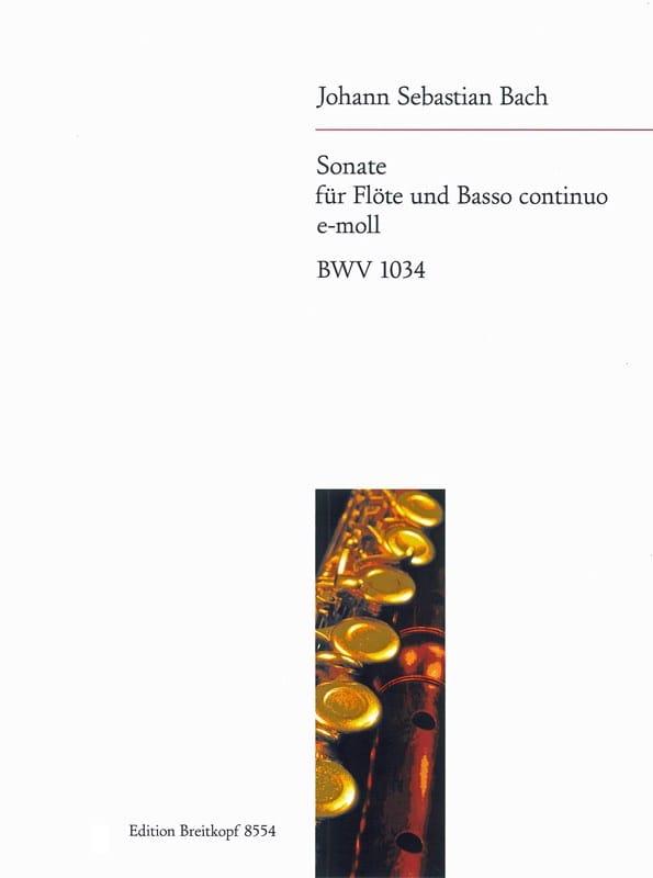 Sonate e-moll BWV 1034 - Flöte u. Bc - BACH - laflutedepan.com