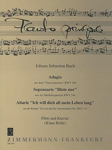 Adagio BWV 249, Arie BWV 244, 117 - Flöte Klavier - laflutedepan.com