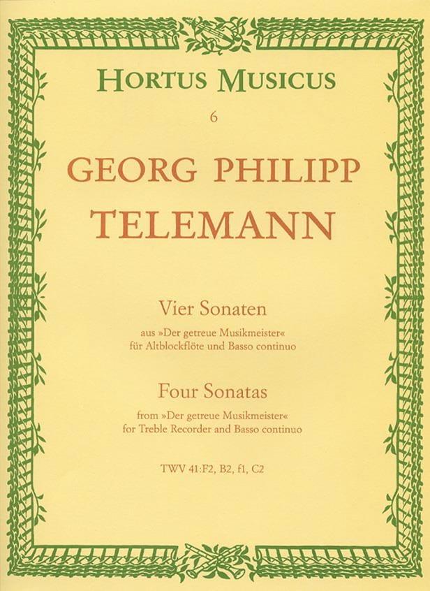 4 Sonaten - Altblockflöte u. Bc - TELEMANN - laflutedepan.com