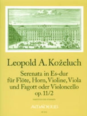Serenata in Es-Dur op. 11 Nr. 2 - Partitur + Stimmen - laflutedepan.com