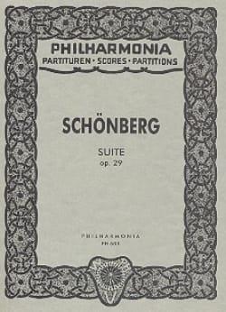 Suite op. 29 - Partitur Taschen SCHOENBERG Partition laflutedepan
