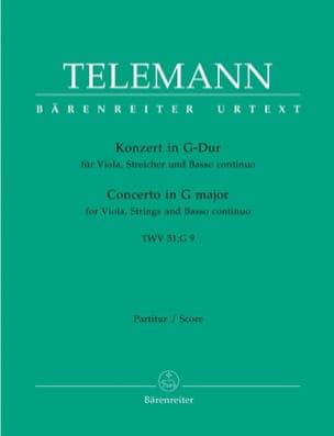 Concerto Pour Alto En Sol M.Twv 51: G9 - Conducteur laflutedepan