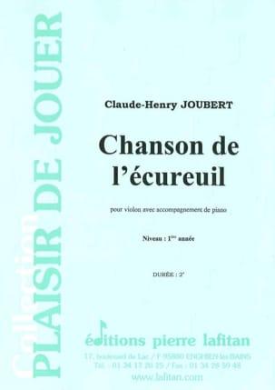 Chanson de l'écureuil Claude-Henry Joubert Partition laflutedepan