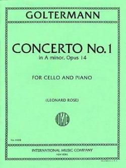 Concerto n° 1 la mineur op. 14 Georg Goltermann Partition laflutedepan
