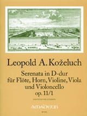 Serenata D-Dur op. 11 n° 1 -Partitur + Stimmen laflutedepan