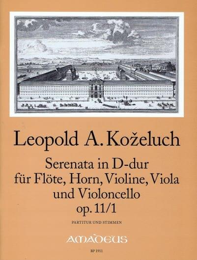 Serenata D-Dur op. 11 n° 1 -Partitur + Stimmen - laflutedepan.com