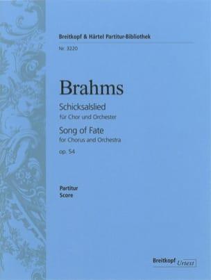 Schicksalslied op. 54 BRAHMS Partition Grand format - laflutedepan