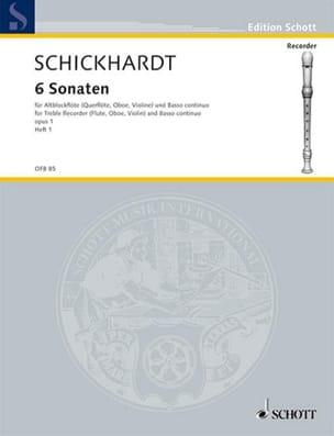 6 Sonaten, op. 1, Bd 1 Johann Christian Schickhardt laflutedepan