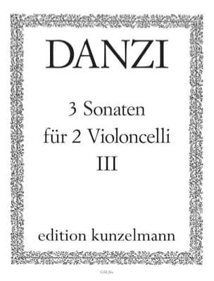 3 Sonaten op. 1, Bd. 3 Franz Danzi Partition laflutedepan