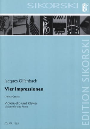 Vier Impressionen für Violoncello und Klavier OFFENBACH laflutedepan