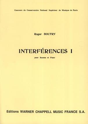 Interférences 1 Roger Boutry Partition Basson - laflutedepan