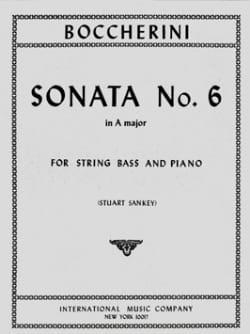Sonata n° 6 in A major - String bass BOCCHERINI Partition laflutedepan