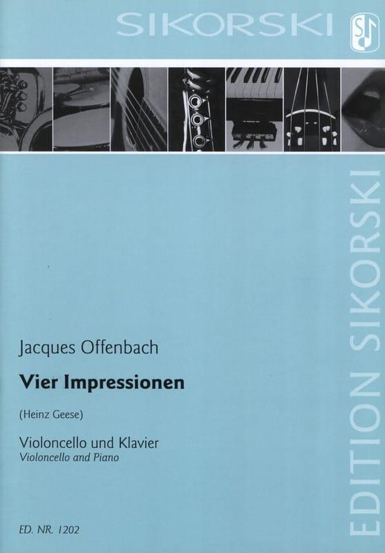 Vier Impressionen für Violoncello und Klavier - laflutedepan.com