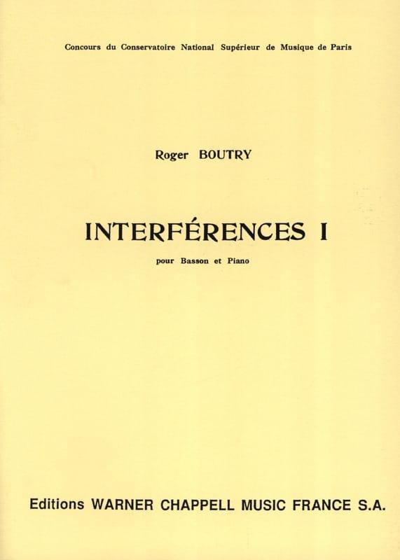 Interférences 1 - Roger Boutry - Partition - Basson - laflutedepan.com