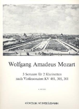 3 Sonaten nach Violinsonaten - 2 Klarinetten - laflutedepan.com
