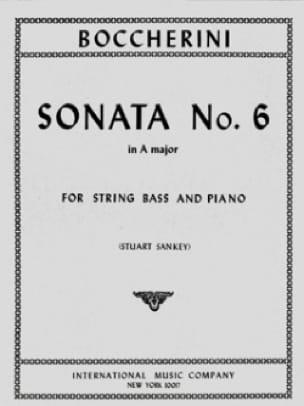 Sonata n° 6 in A major - String bass - BOCCHERINI - laflutedepan.com