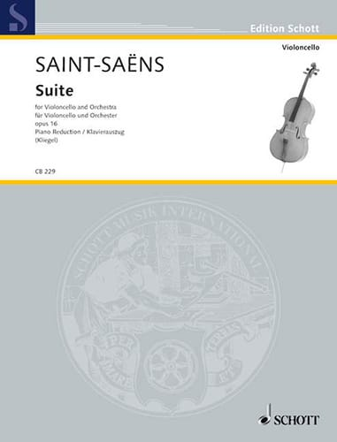 Suite Opus 16 - SAINT-SAËNS - Partition - laflutedepan.com