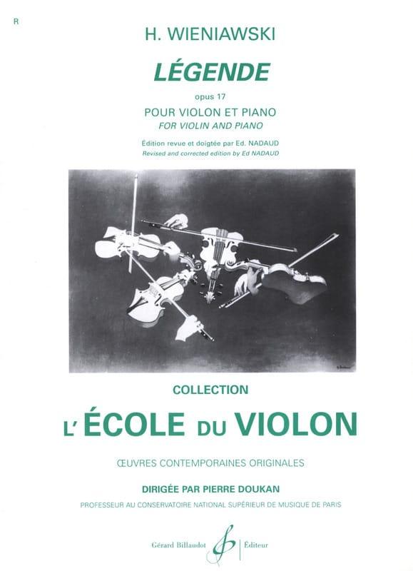 Légende op. 17 - WIENAWSKI - Partition - Violon - laflutedepan.com