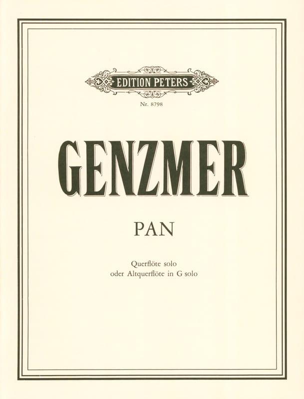 Pan - Flöte solo o. Altflöte solo - Harald Genzmer - laflutedepan.com