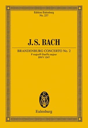 Brandenburgisches Konzert Nr. 2 F-Dur BACH Partition laflutedepan