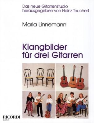Klangbilder für 3 Gitarren Maria Linnemann Partition laflutedepan