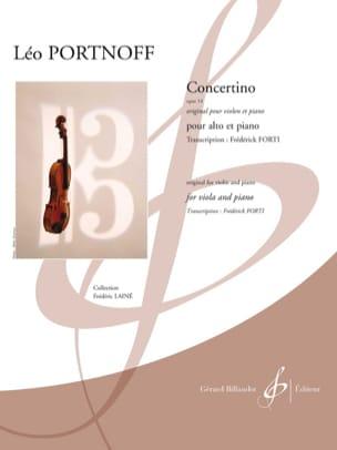 Concertino, opus 14 - Alto et piano Leo Portnoff laflutedepan