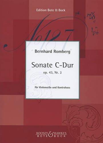 Sonate C-Dur op. 43 n° 2 - Cello Kontrabass - laflutedepan.com