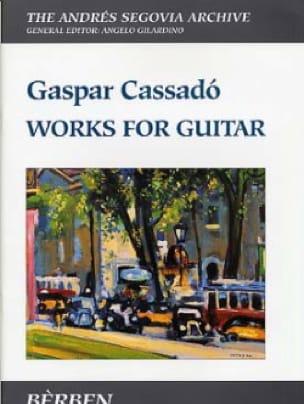 Works For Guitar - Gaspar Cassado - Partition - laflutedepan.com