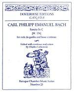 Sonate en ut - W. 136 Carl Philipp Emanuel Bach Partition laflutedepan