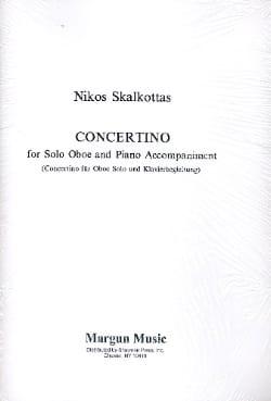 Concertino - Hautbois et Piano Nikos Skalkottas Partition laflutedepan