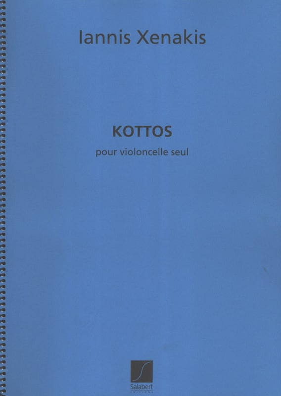 Kottos - XENAKIS - Partition - Violoncelle - laflutedepan.com