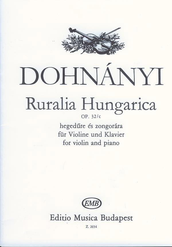 Ruralia Hungarica op. 32/c - DONHANYI - Partition - laflutedepan.com