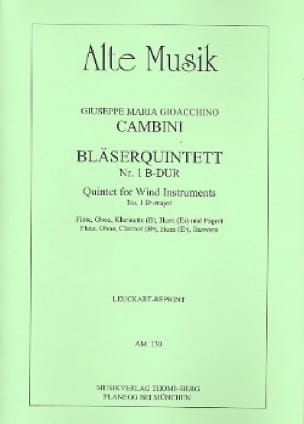 Bläserquintett Nr. 1 B-Dur -Stimmen - laflutedepan.com