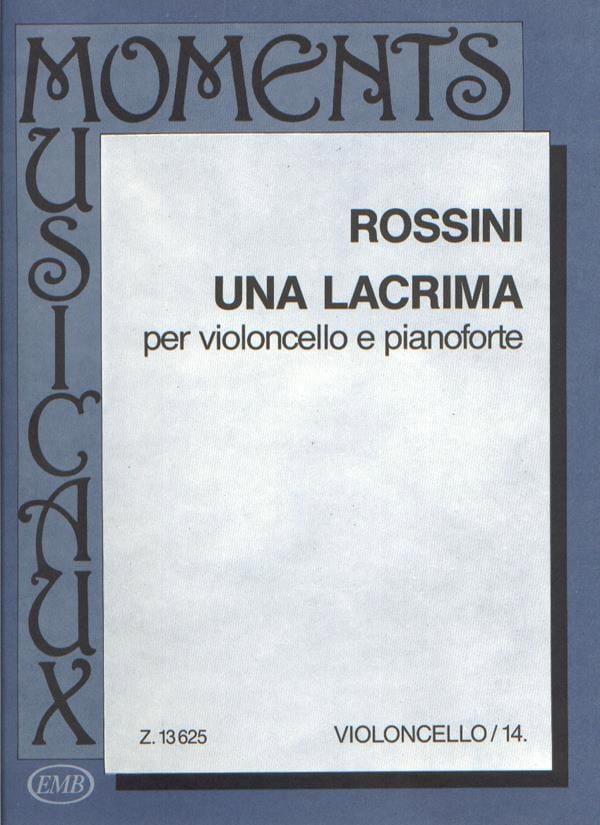 Una lacrima - ROSSINI - Partition - Violoncelle - laflutedepan.com