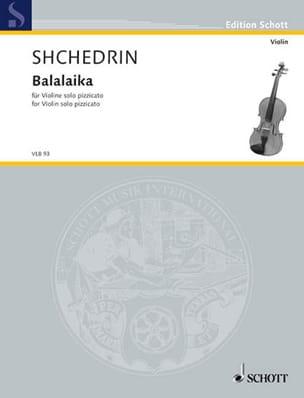 Balalaika Rodion Shchedrin Partition Violon - laflutedepan