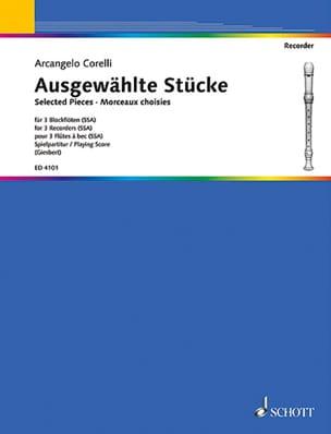 Ausgewählte Stücke für 3 Blockflöten CORELLI Partition laflutedepan