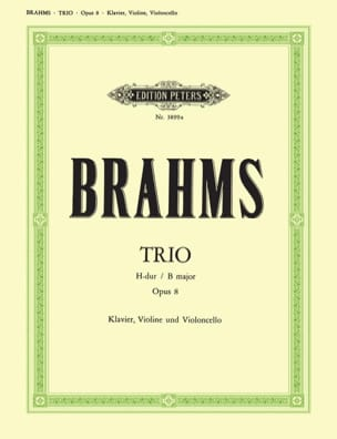 Klaviertrio H-Dur op. 8 -Stimmen BRAHMS Partition laflutedepan