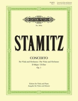 Concerto D-Dur op. 1 - Alto / Piano STAMITZ Partition laflutedepan